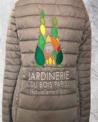 Blouson Jardinerie (dos) - Broderie